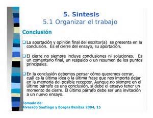 Resumen O Sintesis by Paso 5 Ensayo Sintesis