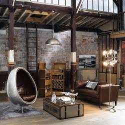 Formidable Table Factory Maison Du Monde #1: table-basse-style-industriel-coffre-malle-metallique-fauteuil-egg-metal-mur-brique.jpg