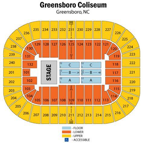 greensboro coliseum seating view greensboro coliseum seating chart car interior design