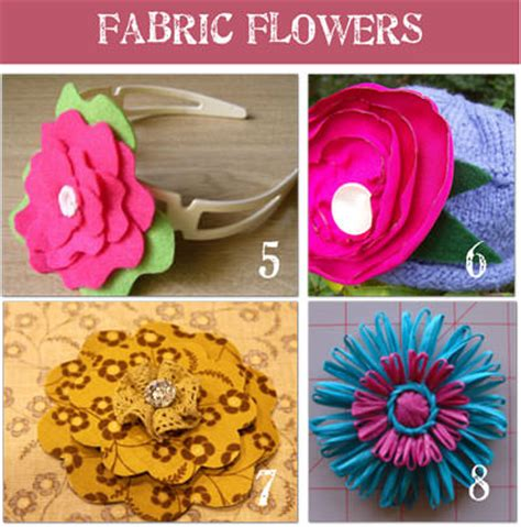 free patterns and instruction on making flower hair clips how to make fabric flowers 16 patterns and tutorials