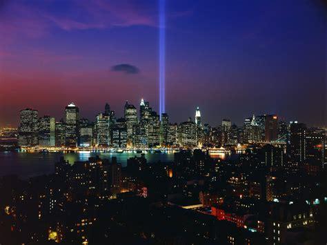 tribute in light september 11th memorial display new york