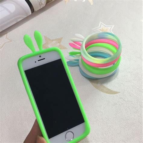 Ring Bunny Silicon Bumper Hp Univesal new rabbit ear universal soft silicone protector bumper frame cover ring for