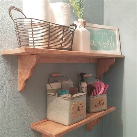 Wood Shelves Bathroom by 24 Bathroom Shelves Designs Bathroom Designs Design