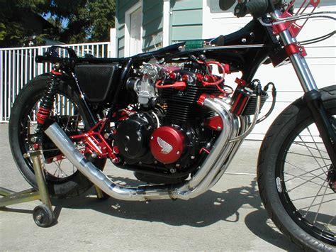 black honda motorcycle clean red n black cb400f 4into1 com vintage honda