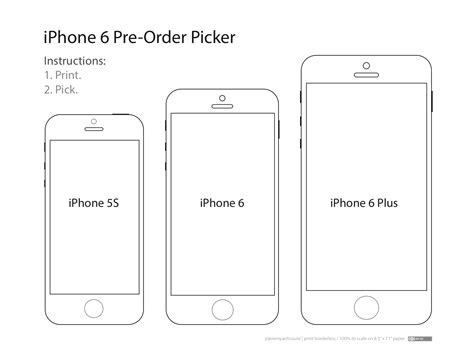 These Templates Will Help You Decide Which Iphone 6 Size Is Right For You Powerpoint Template Size In Mm