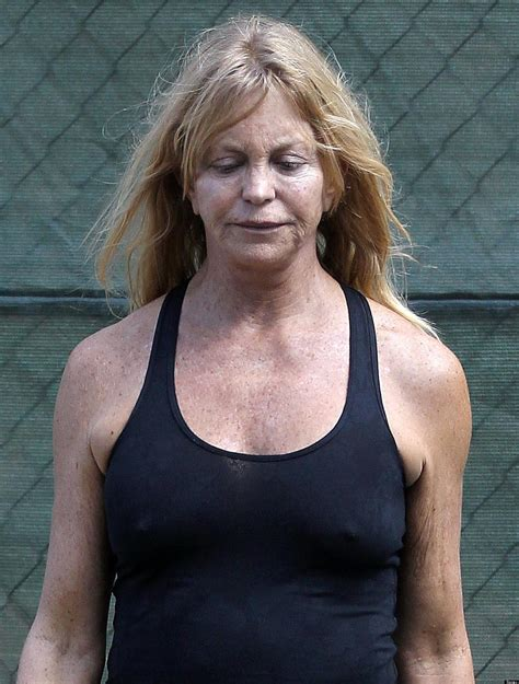 67 year old female face goldie hawn no makeup actress steps out looking all