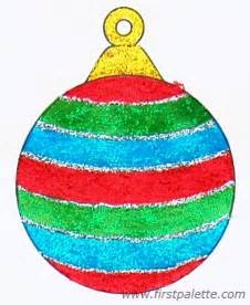 printable christmas tree ornaments craft kids crafts