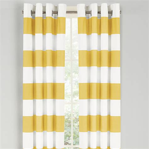 yellow window curtains nautica cabana stripe yellow drapes from beddingstyle com