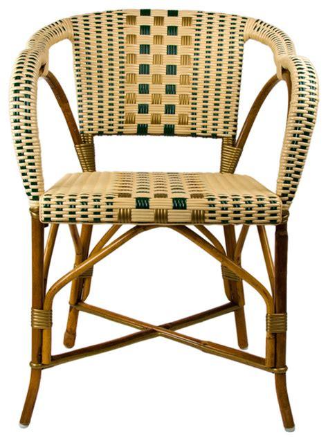 green gold mediterranean bistro chair with woven