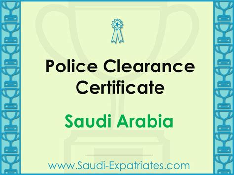 Canada Criminal Record Check Out Of Country Clearance Certificate Saudi Arabia