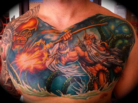 king neptune tattoo designs junkies studio tattoos chris burnett
