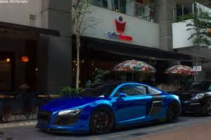 Chrome Blue Audi R8 Chrome Blue Audi R8 4 2 Fsi Quattro By Megastheblaziken On