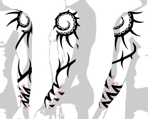 tribal tattoo sketch tribal sleeves designs drawings back to tribal