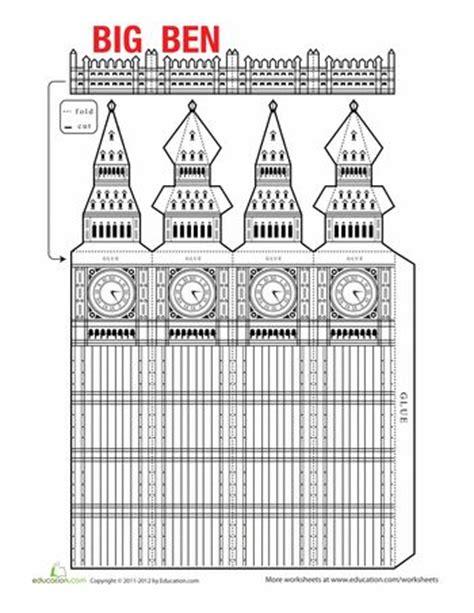 printable london puzzle big ben model big ben the kid and europe