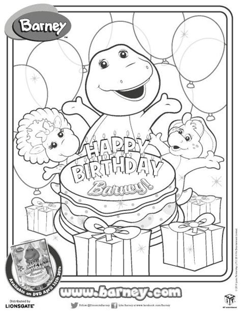 barney birthday coloring page 148 best barney images on pinterest barney party 2nd