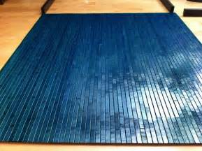 tahoe blue bamboo chair mat office floor mat wood by