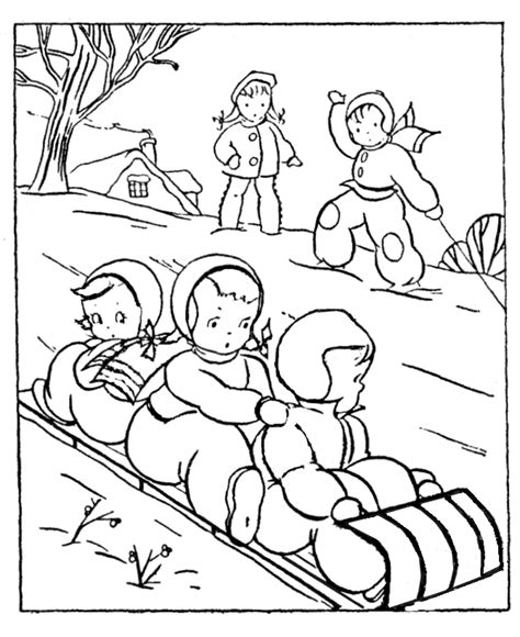 winter scene coloring pages coloring home