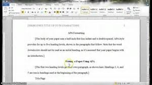 apa headings and subheadings