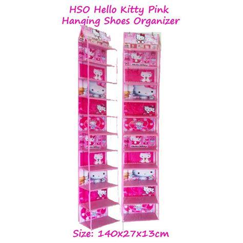 Sepatu Retsleting Kotak hsoz hello pink muda hanging shoes organizer zipper