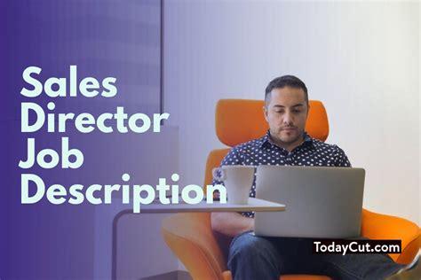 sales director sales director job description salary duties