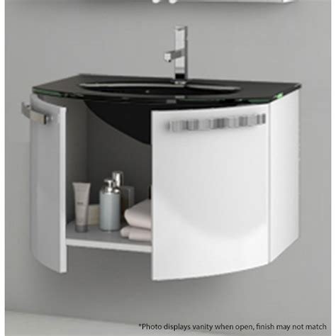 28 Inch White Bathroom Vanity by Modern 28 Inch Vanity Set With Glass Sink