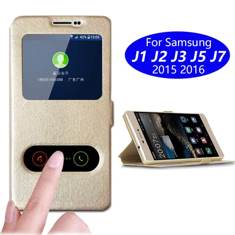 phone for samsung galaxy j1 j2 j3 j5 j7 2015 or 2016 or 2017 ver leather flip cover dual