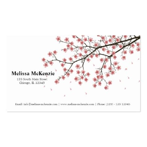 Business Card Template Free Word Cherry Blossom by Cherry Blossom Business Card Template Zazzle