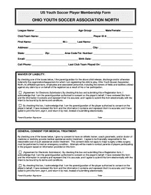 Kids Soccer Waiver Fill Online Printable Fillable Blank Pdffiller Risk Waiver Form Template