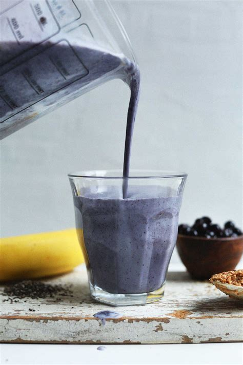 Detox Smoothie Almond Butter by Blueberry Almond Butter Smoothie Minimalist Baker Recipes