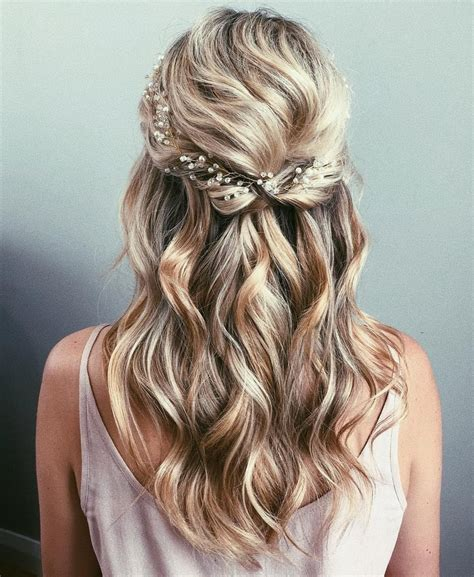 half up wedding hair ideas popsugar