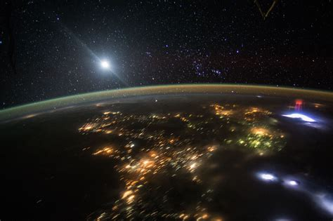 nasa space pictures astronauts photographed 2 light shows from