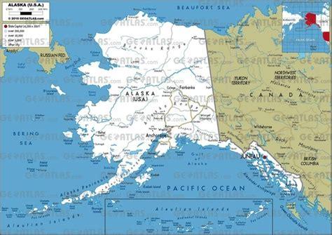 alaska on the map alaska on map world map 07