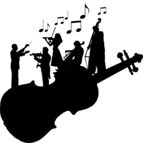 orchestra clipart string orchestra silhouette by pinaydragon93 on