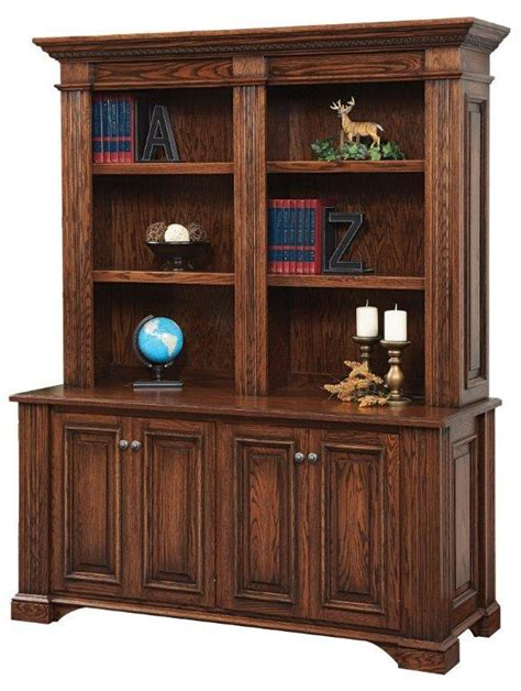 lincoln credenza with optional bookshelf hutch from