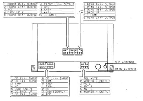 mitsubishi car audio wiring diagram torzone org