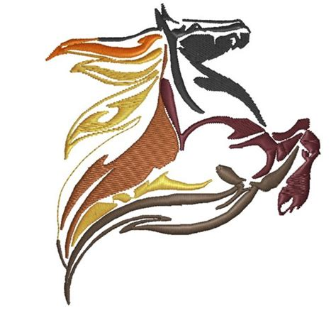 embroidery design horse flame horse embroidery design from king graphics grand