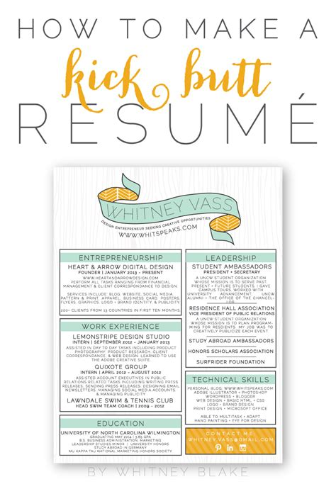 Creative Ways To Teach Resume Writing by How To Make A Kick Resum 233