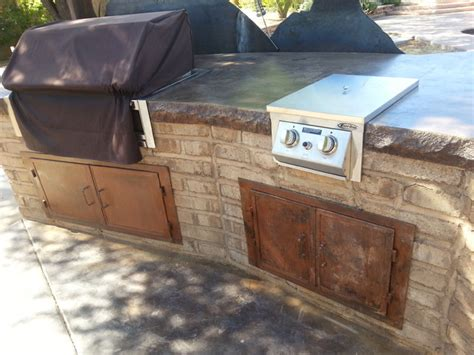 Concrete Countertops For Outdoor Kitchen by Adobe Outdoor Entertaining With Concrete Countertops