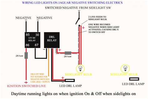 wiring led lights on negative switched cars jaguar