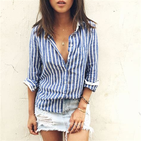 Aimee Stripes Top striped shirt