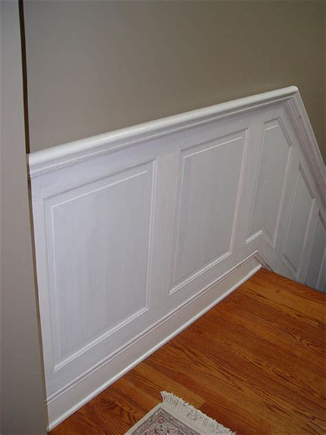Cheap Handrail Ideas Hold On Tight Staircase Wainscoting And Handrail Project
