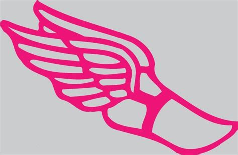 running shoes with wings clipart best track shoe with wings 5809 clipartion