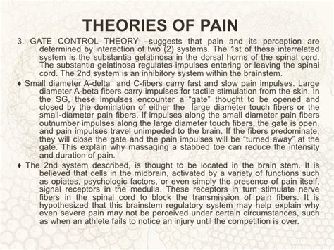 pattern theory pain concept of pain