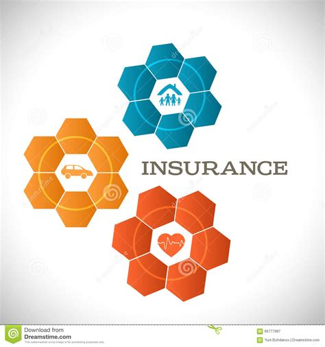 techno flower concept insurance infographics template stock vector image