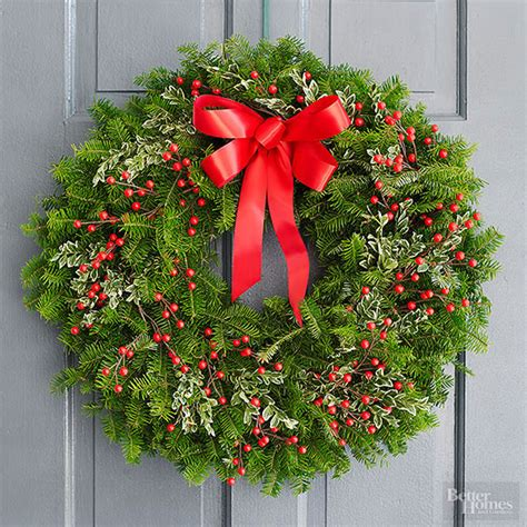 holiday wreath fresh holiday door wreath diy yoyomama
