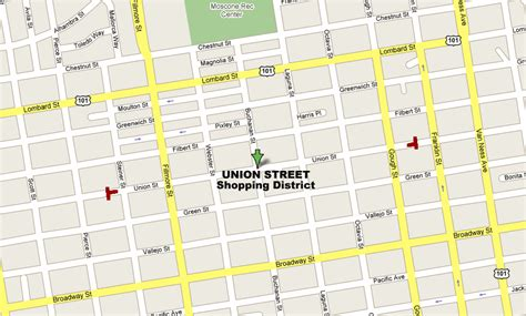 map of streets union map shop union union