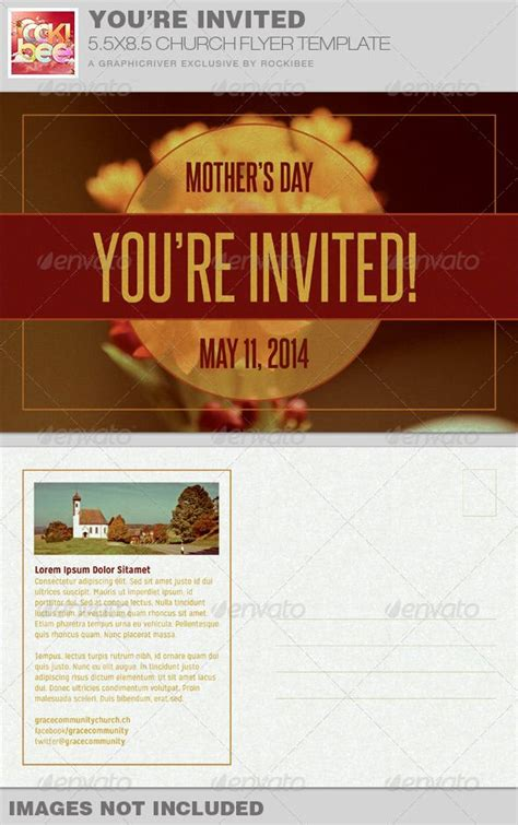You Re Invited Church Flyer Invite Template Simple Flyers And Photoshop Invitation Flyer Templates