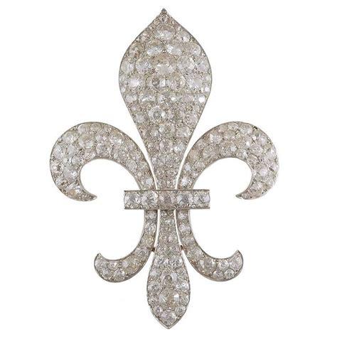 Brooch Fleur 1 silver gold fleur de lis brooch for sale