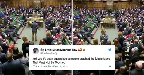 touched parliaments special mace  british