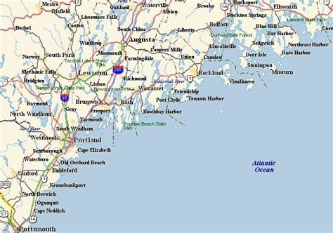 map of maine coast click on the map region to select